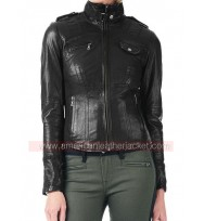 Arrow Sara Lance Black Leather Jacket