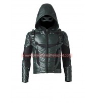 Arrow Season 5 Oliver Queen Leather Jacket