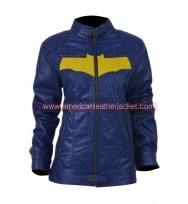 Batgirl Blue Leather Jacket