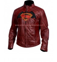 Bat-man v Super-man Leather Jacket Costume