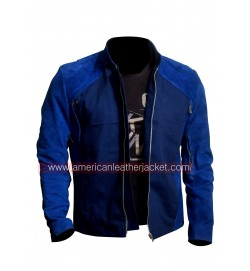Captain America The Winter Soldier Blue Leather Jacket