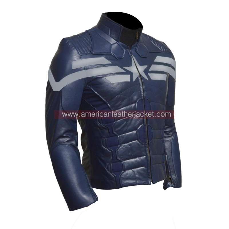 America The Winter Soldier 2014 Leather Jacket