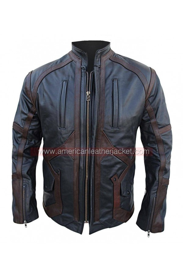 Captain America Winter Soldier Bucky Barnes Leather Jacket