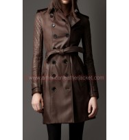 Castle Kate Beckett Leather Trench Coat