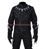 Civil War Black Panther Leather Jacket Costume