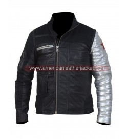 Civil War Winter Soldier Bucky Barnes Leather Jacket