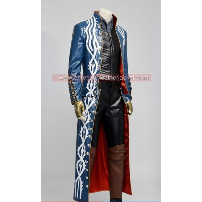 Devil may cry 3 vergil leather jacket coat for sale devil may cry 3 vergil leather jacket voltagebd Images