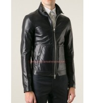 Christian Grey Fifty Shades of Grey Biker Leather Jacket