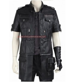 Final Fantasy XV Noctis Lucis Caelum Leather Jacket