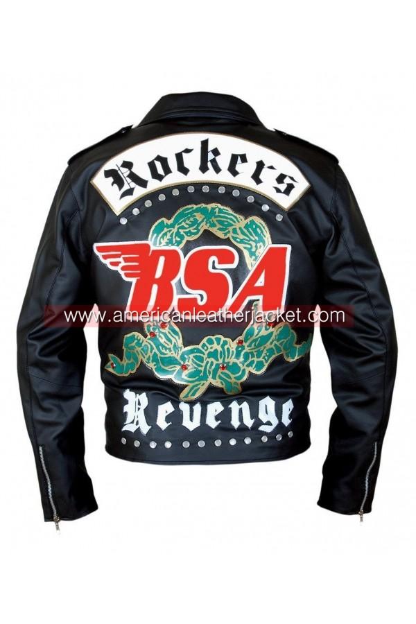 Mens George Michael Rockeer BSA Real Leather Jacket