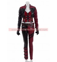 Injustice 2 Harley Quinn Red Leather Jacket Suit