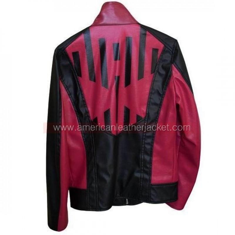 Womens Black Leather Moto Jacket