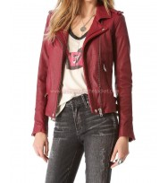Kate Beckett Castle Season 7 Leather Jacket