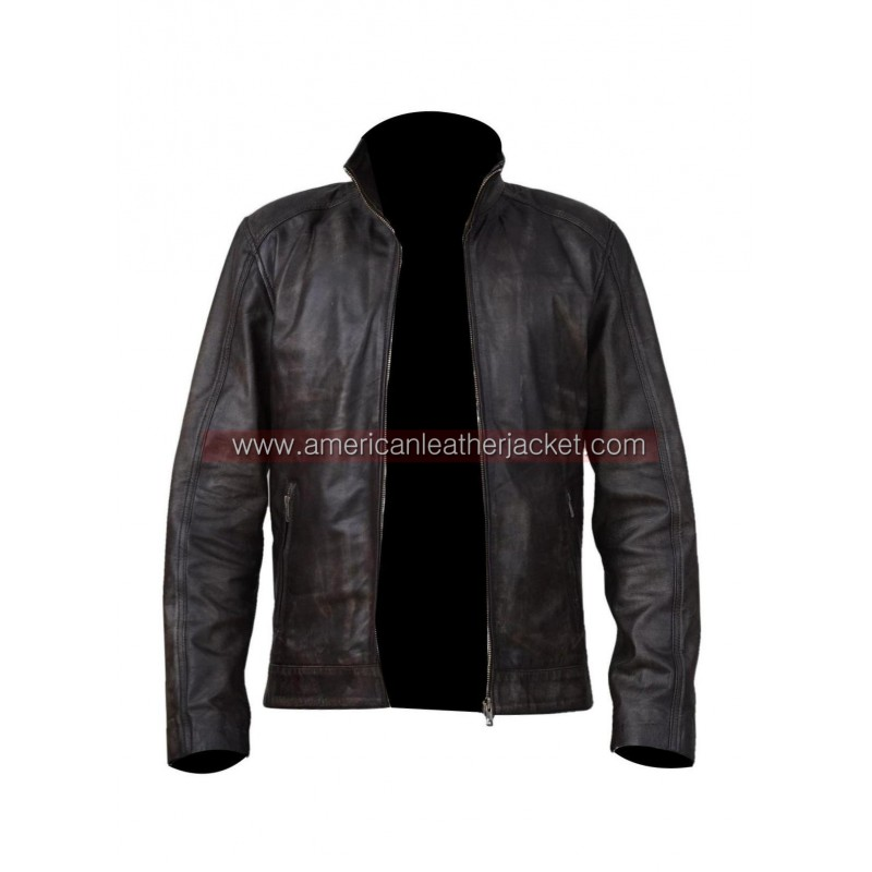 jason bourne matt damon leather jacket