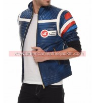 My Chemical Romance Party Poison Blue Leather Jacket