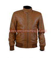 Narcos Steve Murphy Bomber Brown Leather Jacket