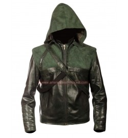Arrow Oliver Queen Green Leather Jacket