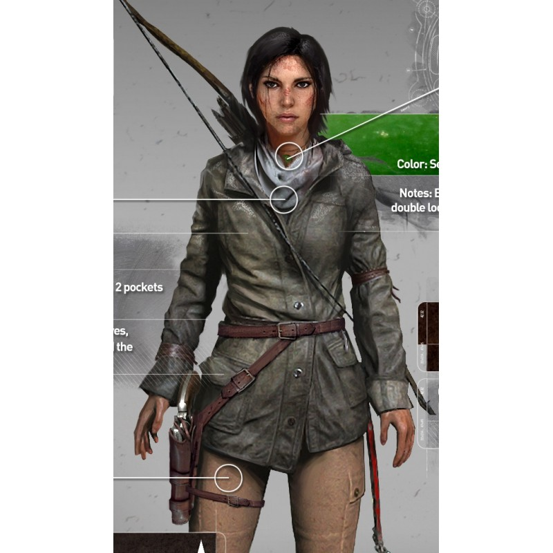 Rise Of The Tomb Raider Art Silk Fabric: Rise Of The Tomb Raider Hood Jacket