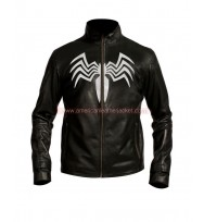 Spider Man Venom Black Leather Jacket