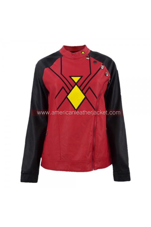 Spider-Woman Jessica Drew Leather Jacket Costume  sc 1 st  American Leather Jacket & Jessica Drew Spider-Woman Leather Jacket Costume