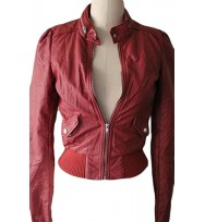 Teen Wolf Lydia Martin Red Leather Jacket