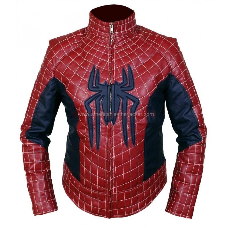 Spider man leather jacket