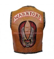 The Warriors Brown Leather Vest