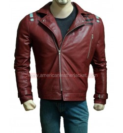 No More Heroes Red Leather Jacket