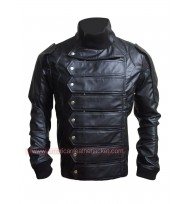 Bucky Barnes Winter Soldier Leather Jacket + Vest