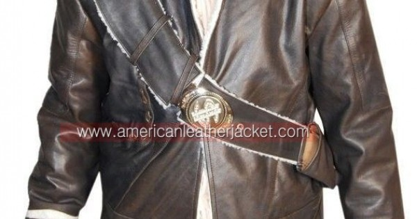 5b3afb488f33 Uncharted 2 Nathan Drake Jacket - Winter Leather Costume