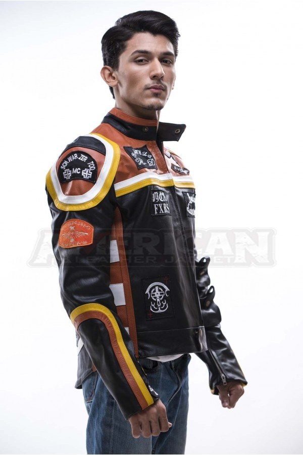 Harley Davidson And Marlboro Man Leather Jacket For Sale