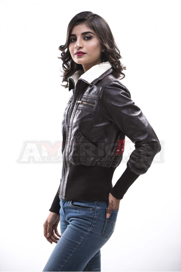 0d99813fb Bombshell Harley Quinn Bomber Leather Jacket