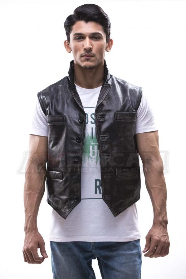 Hell on Wheels Cullen Bohannon Men/'s Real Leather Vest