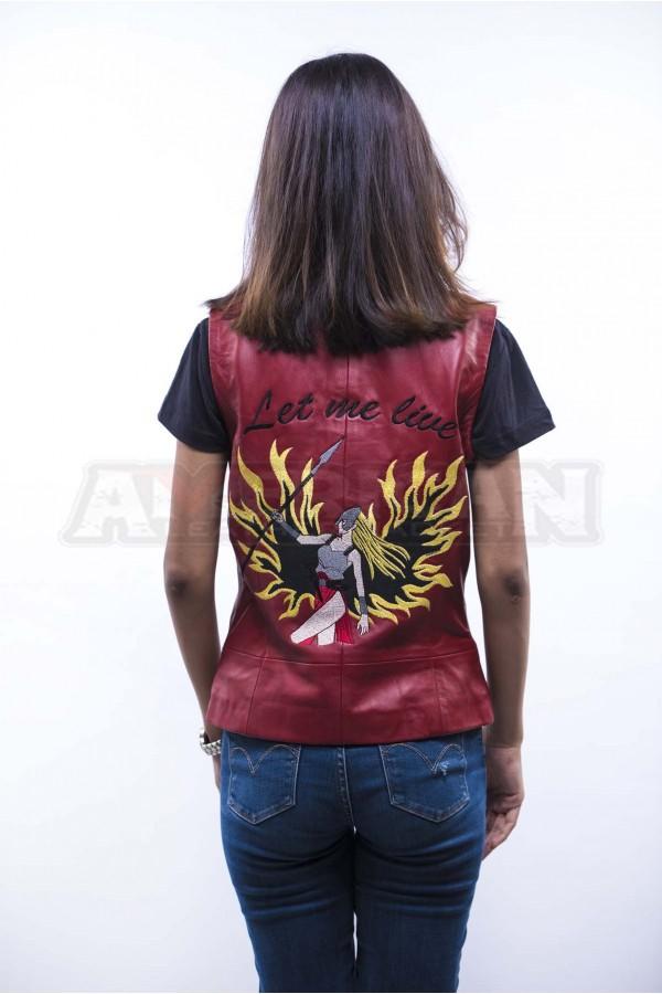 Womens Leather Shirt Jacket
