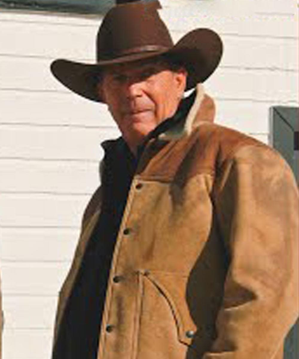 Kevin Costner Yellowstone Series Jacket John Dutton Yellowstone Jacket Mens