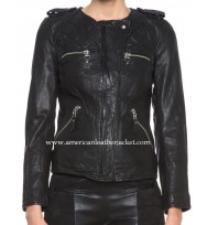 Covert Affairs Annie Walker Black Leather Jacket