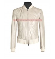 Crazy Stupid Love Ryan Gosling White Leather Jacket