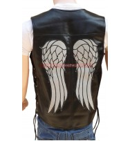 Daryl Dixon Angel Wing Leather Vest