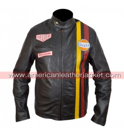Steve McQueen Grand Prix Le Mans Leather Jacket