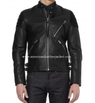 True Blood Alexander Skarsgard Biker Leather Jacket
