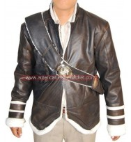 Uncharted 2 Nathan Drake Winter Leather Jacket
