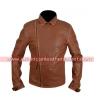 Captain America Avenger Brown Leather Jacket